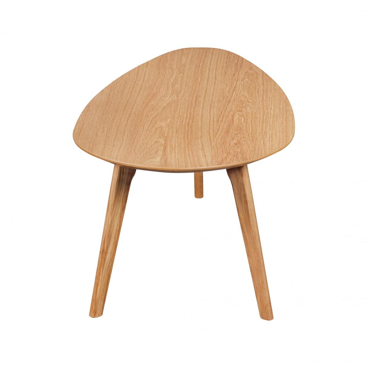 Wohnzimmertisch Holz 2 teilig Beistelltisch Set Satztisch