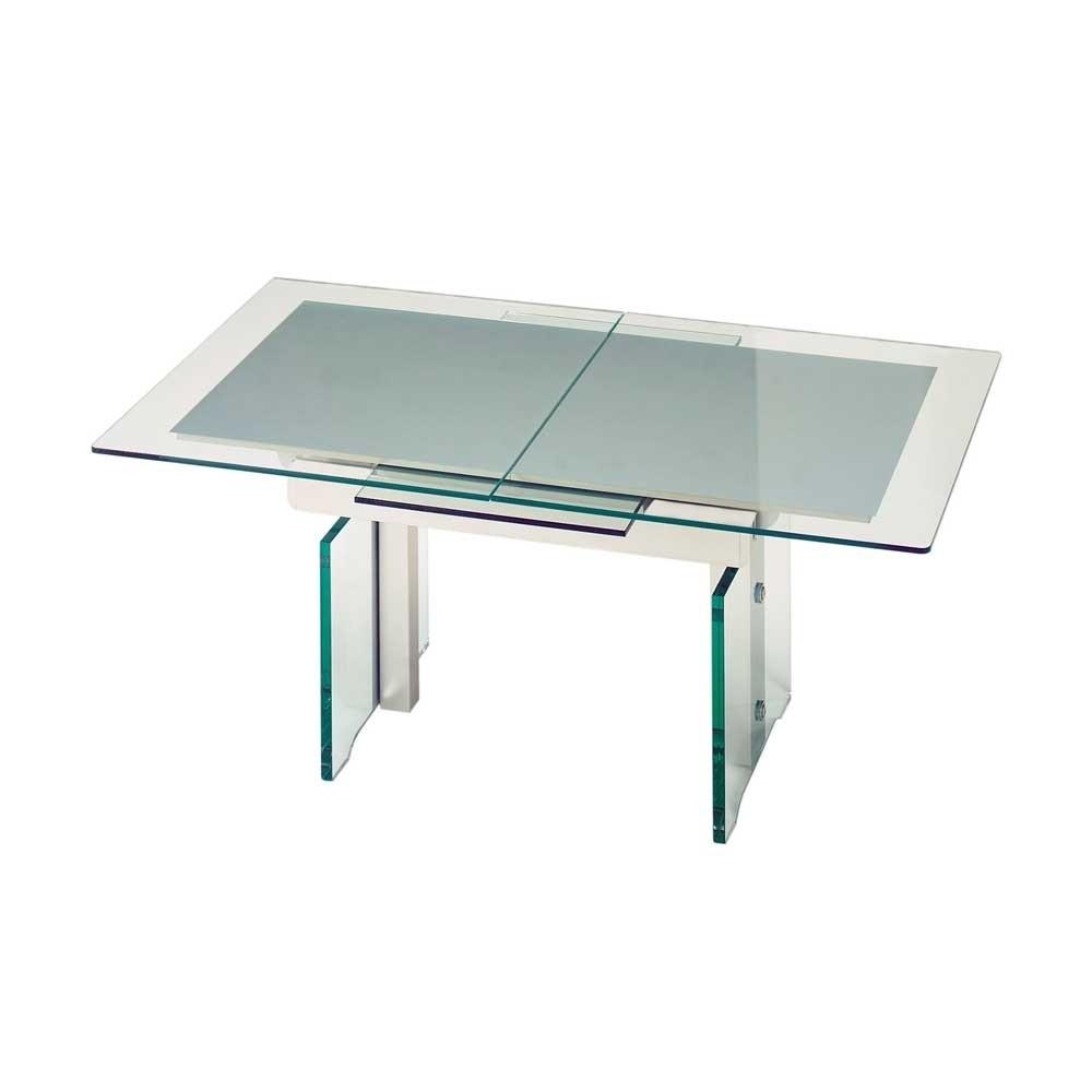 Wohnzimmertisch Shandan aus Glas ausziehbar