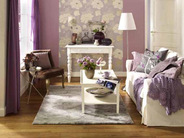 Wunderbare Wandgestaltung im Wohnzimmer