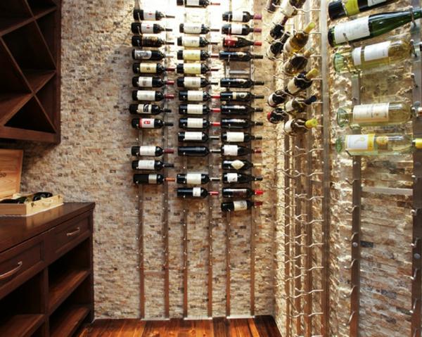 Ziegel Weinregal für ein glückliches Haus Archzine